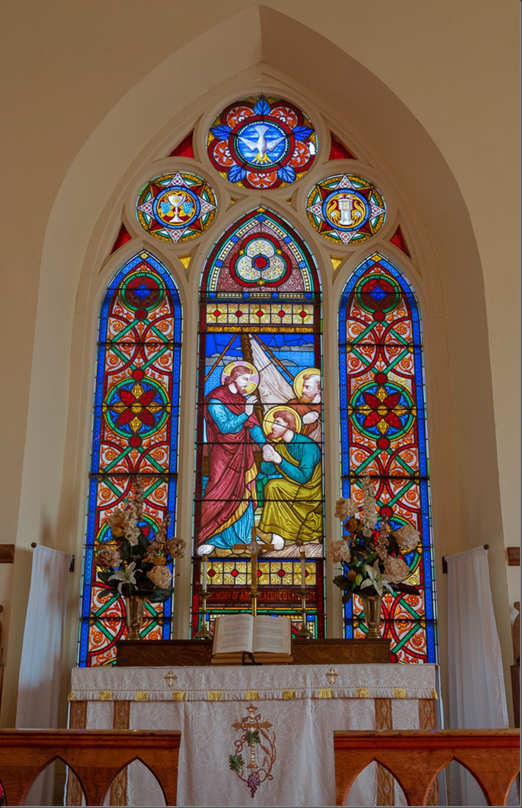 Alter and Stained Glass Window