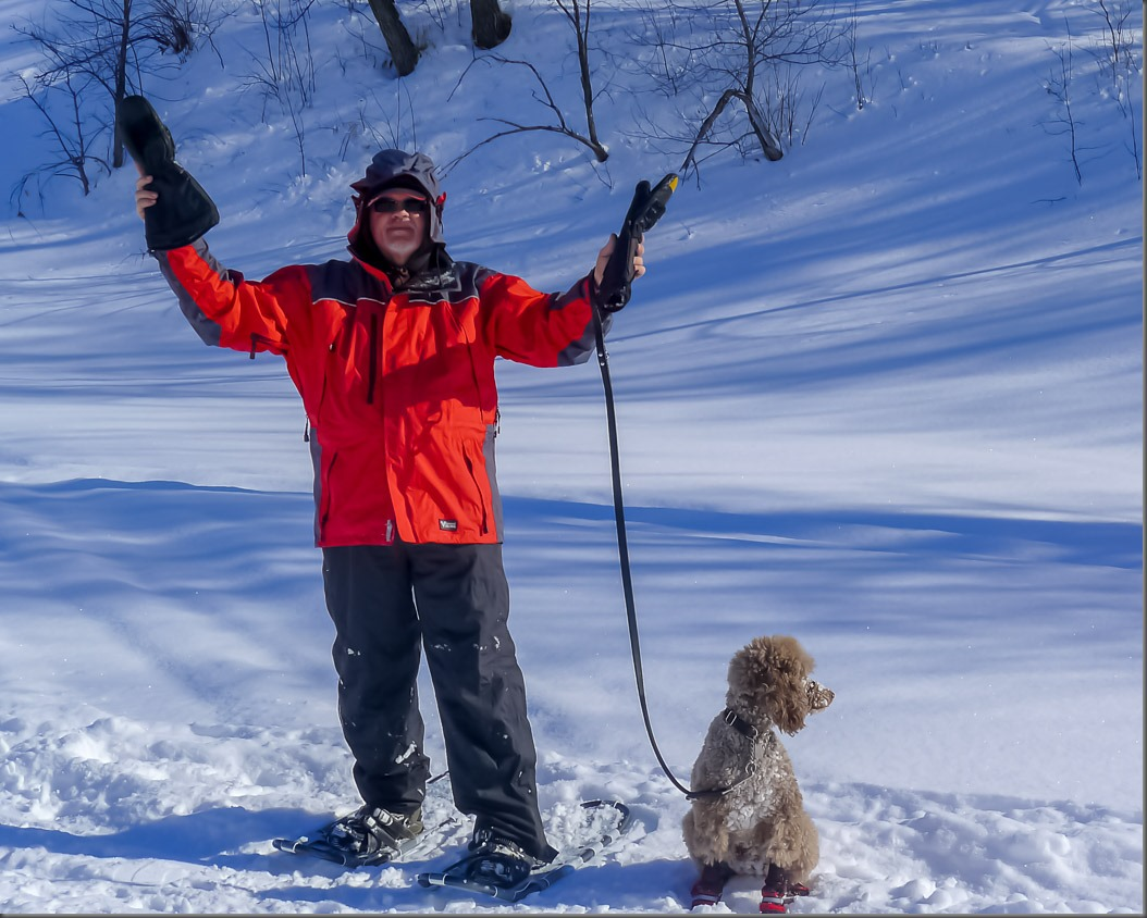 Snowshoeing on a Sunny Winter Day