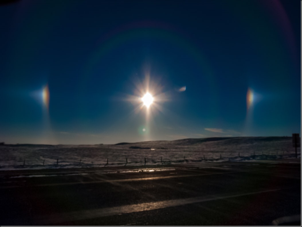 Sun Dogs on a Winter Morning